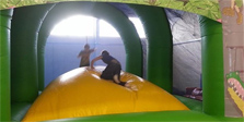 Bouncy castle jungle mountain